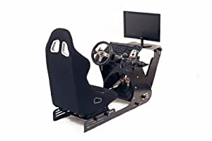 Estación par simulación de conducción negro + asiento del conductor negro, PC, XBOX, PS3, no Playseat