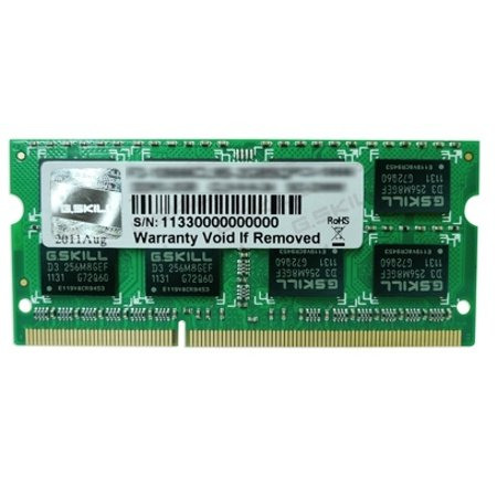 4GB G.Skill DDR3 PC3-12800 CL9 SQ Series single laptop memory module (Four Channel 5545)