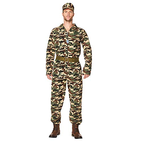 Army Soldier Costume - Halloween Mens Military