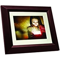 Philips SPF3482 Home Essentials Digital PhotoFrame 8 LCD Panel Brown Wood Frame, Simplified Controls and Animated Menu Icons, Auto Photo Orientation, 5 in 1 Card Reader: SDHC, MMC, MS, MS Pro, Compatible with Any USB Flash Drives