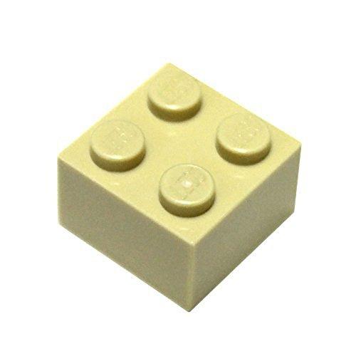 LEGO Parts and Pieces: 2x2 Tan (Brick Yellow) Brick x50