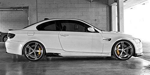 BMW E92 M3 White Right Side AC Schnitzer Wide Aspect HD Poster Sports Car 48 X 24 Inch Print (Ac Schnitzer E92)