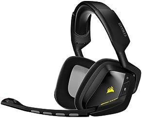 Corsair Gaming VOID - Auriculares cómodos de gaming para PC (inalámbricos, USB, Dolby 7.1), negro (CA-9011132-EU)