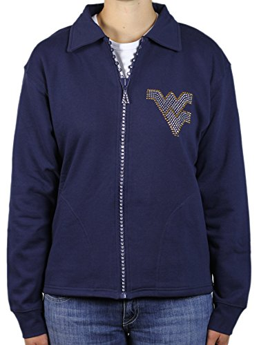 - Nitro USA NCAA West Virginia Mountaineers Crystal Zipper Jacket, 3X, Navy