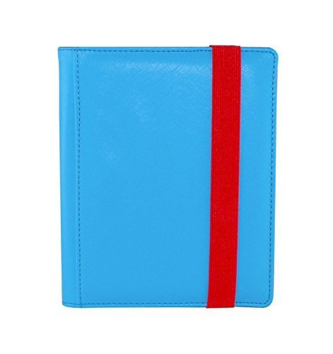 Dex Protection Dex Binder 4 Blue Portfolio 4-Pocket Velvet-Lined Album Holds 160 Cards Double Sided, Side-Load Binder fits Magic, Pokemon, - Portfolio Album Pocket 4