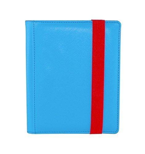 Dex Protection Dex Binder 4 Blue Portfolio 4-Pocket Velvet-Lined Album Holds 160 Cards Double Sided, Side-Load Binder fits Magic, Pokemon, - Portfolio 4 Pocket Album