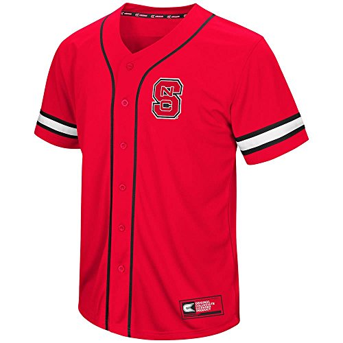 (Colosseum Mens NC State Wolfpack Baseball Jersey - L)