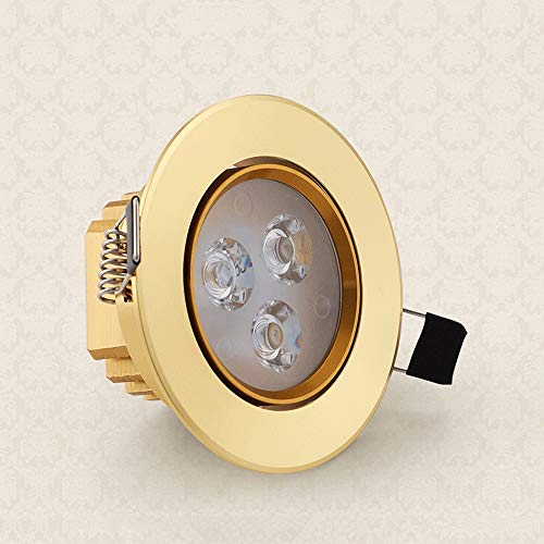 Lionze Luxury Home Recessed Lighting Ceiling Lights Spotlights Aluminum Gold Commercial Panel Downlight Anti-Glare Energy Saving LED Flat Fixture Living Room Exhibition Office Rest Room -