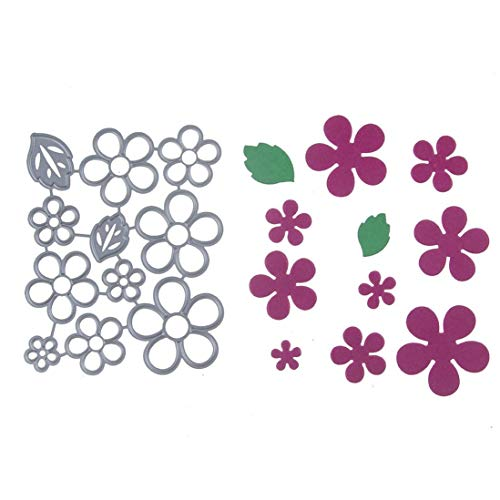 callm Christmas Cutting Dies, Flowers Edge Gifts Paper Card Making Metal Die Cut Stencil Template for DIY Scrapbook Photo Album Embossing Craft Decoration (C) by callm (Image #2)