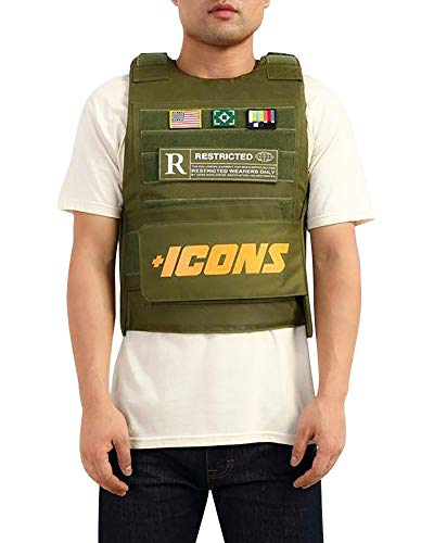 HUDSON Outerwear Men's Icon Fashion Vest with Adjustable Velcro Straps and Patches, Olive