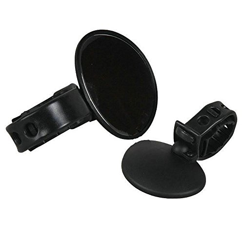 UMFunBicycle Cycling Handlebar Rubber Rearview Mirror 360 degree Rotate Accessories (black)]()