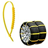Rupse Tire Chains Car Vehicle Anti-Slip Snow Chain Security Adjustable Emergency Easy to