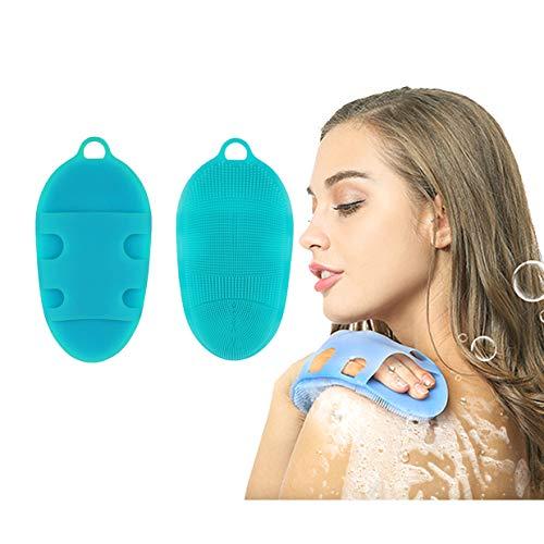 LattoGe Body Brush Face Cleansing Pad Shower Washing Sponge Scrubber Bathing Cleaner SPA for Feet Back Massage Exfoliation (1st generation, Blue) ()