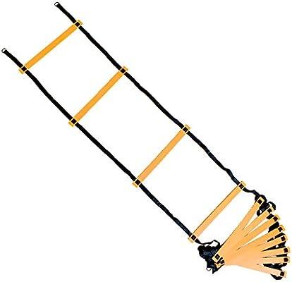 Master Adultos HEG – Escalera de Entrenamiento de fútbol Escalera de coordinación, scharz/Naranja, One Size: Amazon.es: Deportes y aire libre