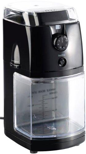 Rosenstein & Söhne Elektrische Kaffeemühle mit hochw. Scheibenmahlwerk