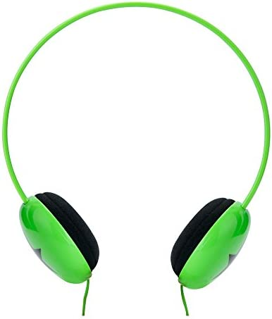 RockPapa On Ear Adjustable Boys Girls Childs Kids Headphones Earphones Lightweight for MP3 4 DVD Tablets Phones DVD PC innoTab PSP Green