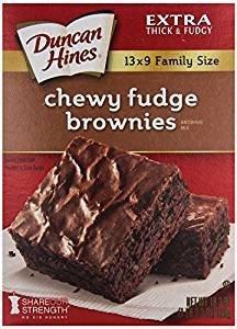 Duncan Hines Chewy Fudge Brownies 18.3 Oz. Pack Of 3.