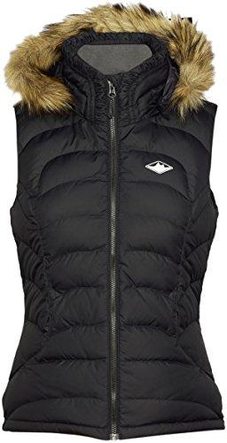 Mountain Designs Women's Kyoto Down Vest with Hood, Jet Black, 10 (Aria Down Vest)