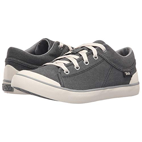 Teva Women's W Freewheel Washed Canvas Shoe, Black/Grey, 9 M US