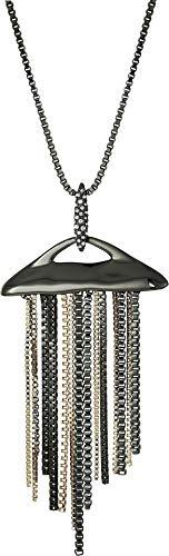 Pendant Bittar Alexis - Alexis Bittar Women's Fringed Pendant Necklace Ruthenium/10k Gold One Size