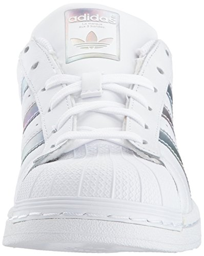 adidas Kids' Superstar J Sneaker, White/White/Gold Metallic, 4.5 M US Big Kid by adidas (Image #4)
