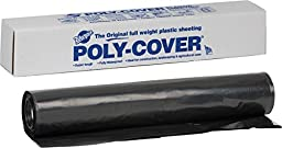 Warp Brothers 4CH20-B 4 Mil Black Plastic Sheeting, 20-Foot by 25-Foot