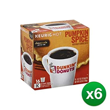 06c3996bf0b1d Dunkin Donuts Pumpkin Spice Flavor K-Cups for Keurig Coffee Brewers ...