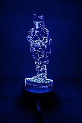 The Gear Blog Star War Boba Fett 3D Night Light Lite
