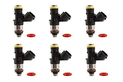 FAST 32107-6 Precision-Flow LS3/LS7 Profile 242 lb/hr High-Impedance Injectors - Set of 6