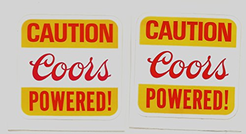 Coors Powered Racing Decals Stickers 3 Inches Long Size -