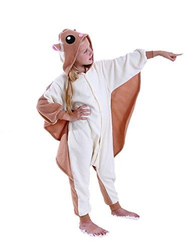 ifboxs Kids Flying Squirrel Animal Onesies Christmas Cosplay Costume Pajama Girls Boys