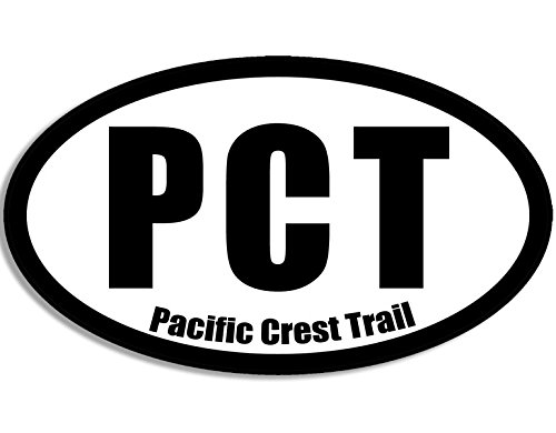 WHITE Oval PCT Pacific Crest Trail Sticker (hiking hike)