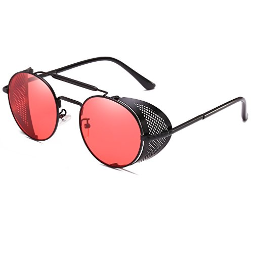Punk Design Wind Retro Vintage Sun Sunglasses Steam Classic Fashion Red Glasses Unique wTSpxFxqt