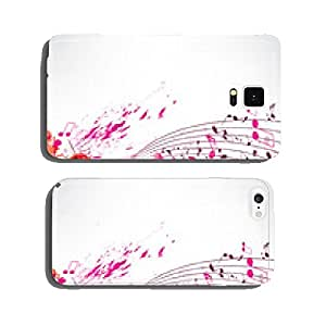 Abstract background notes and splatter cell phone cover case Samsung S6