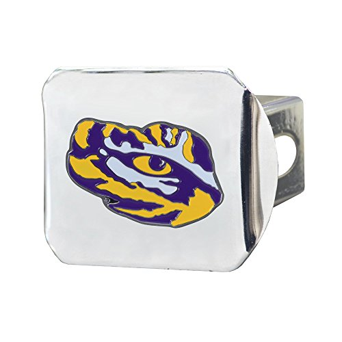 Zokee-LSU Louisiana State University Chrome Hitch Cover with Color