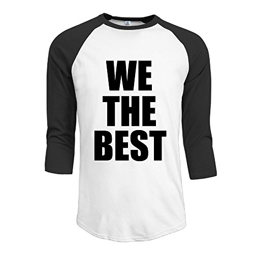 Men's Funny We The Best 7 Split Sleeve T-shirts Black Size L