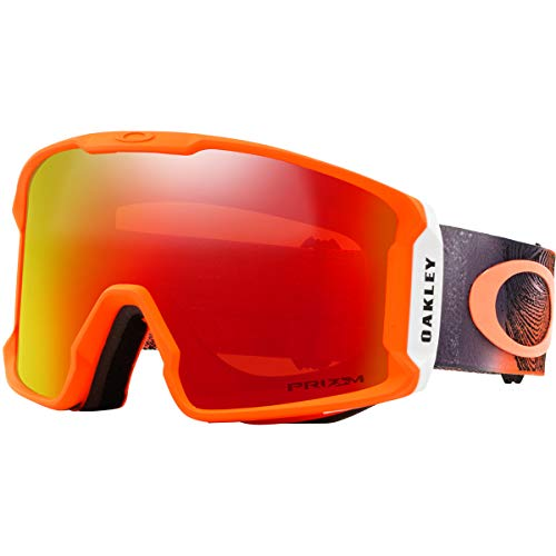 4a9359cf6c1 Oakley Line Miner Men s Snowmobile Goggles - Mystic Flow Neon Orange Prizm  Torch Iridium Large