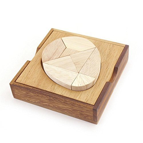 Information Circle Columbus - BRAIN GAMES Egg Tangram Wooden Puzzle
