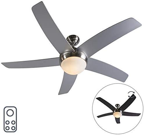 QAZQA Diseño Ventilador acero mando-a-distancia - COOL 52 Vidrio ...