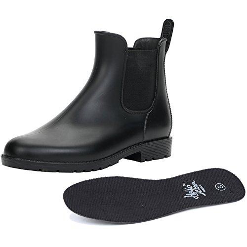 stivaletti modello Stivali da stretch moda stivali alla pioggia donna PVC Nero stivali q1q8BX
