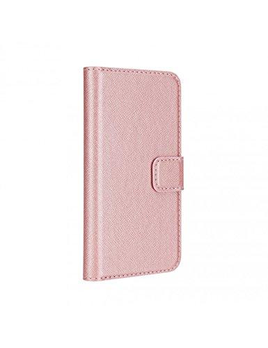 XQISIT Wallet case Viskan for iPhone 5/5S/SE rose gold col.