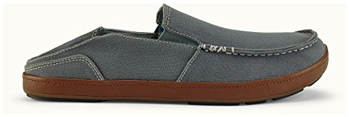 OluKai Puhalu Canvas Shoe - Mens Charcoal/Toffee AfnNeiyL