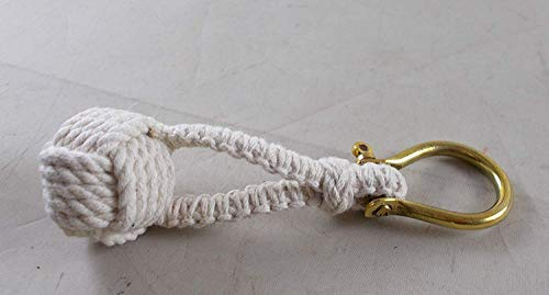 1 X Nautical Monkey Fist Knot Key Chain (Monkey Fist Knot Keychain)