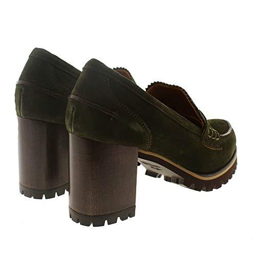 Miralles Tacón Zapato Pedro Mocasín 24092 Verde Bw5qW5Zfz