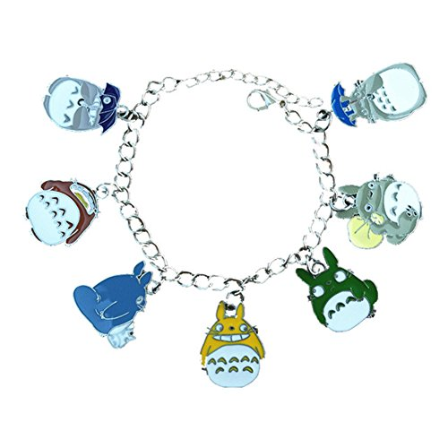 J&C Family Owned Totoro 7 Charms Lobster Clasp Bracelet in Gift Box - Totoro Costume Ideas