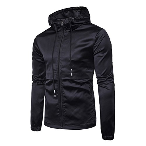 Gift Black Mens Outerwear Hoodie Sportswear Larga Jacket Coat Windbreaker Sleeve Sport Hoody Soft Junior Present Zipper Long Manga Zhhlaixing Christmas For Birthday qCE1wHC