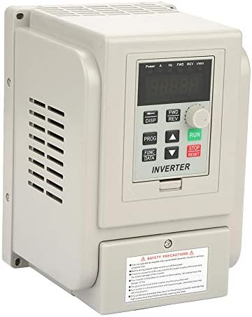 nobrands Variable Frequency Drive-220VAC Single-Phase Variable Frequency Low Noise Frequency Converter for 3-Phase 2.2KW AC Motor VFD Spee/d Controller with Radiato/r