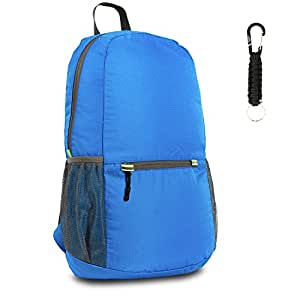 The Friendly Swede 25L Ultralight Durable Packable Backpack Daypack - Foldable To Pocket Size