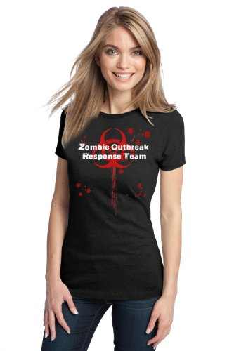 JTshirt.com-20028-ZOMBIE OUTBREAK RESPONSE TEAM Ladies\' T-shirt / Apocalpyse Walking Dead Fan Tee-B00A7L77PS-T Shirt Design