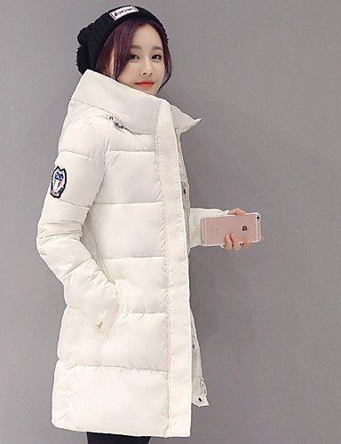 Sleeve YRF 2XL Coat Women's chic Street Solid Long Black Down White Hooded coat padded AvArq1